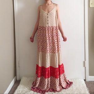 Xhilaration Boho Floral Printed Maxi Dress.